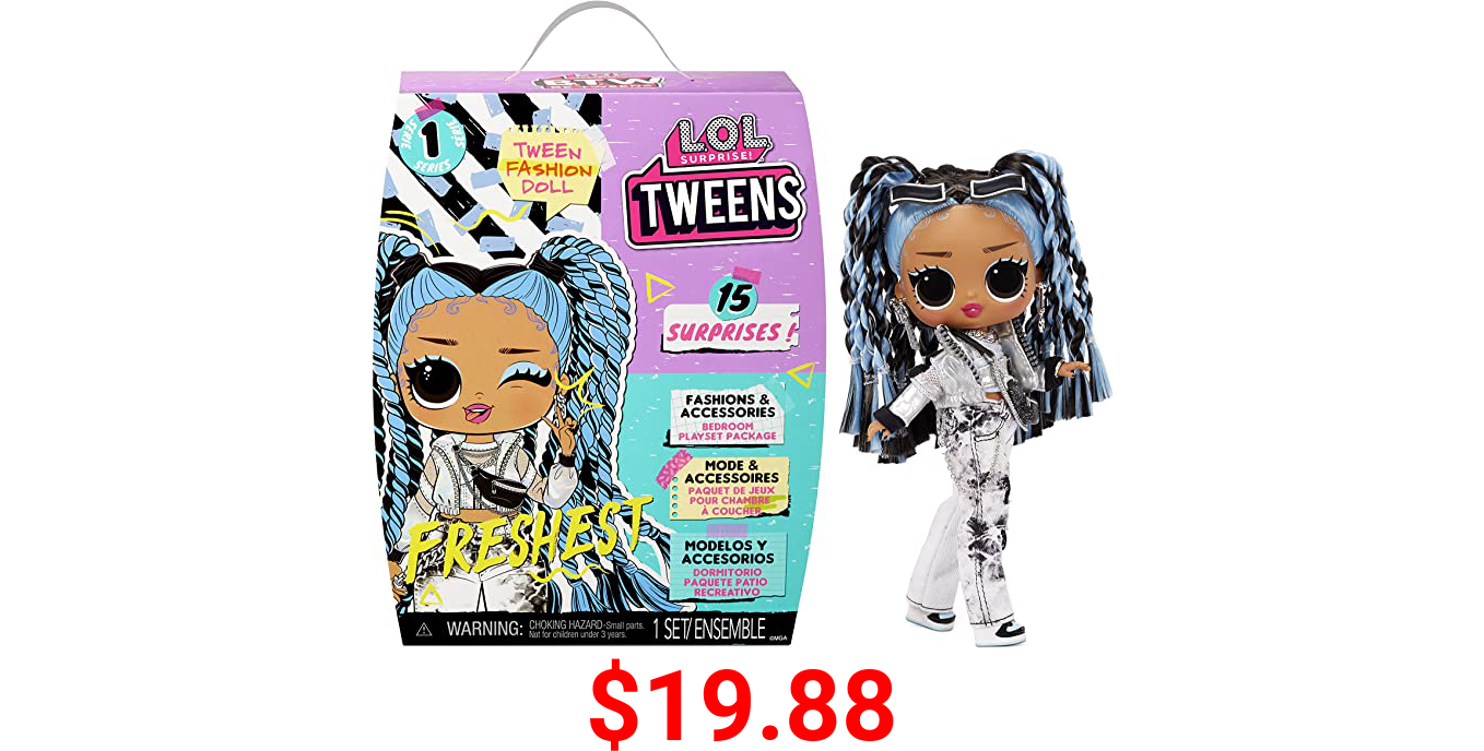 LOL Surprise Tweens Fashion Doll Freshest with 15 Surprises Including Outfit and Accessories for Fashion Toy Girls Ages 3 and Up