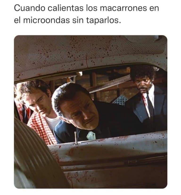 Cuando se te abre algo en el microondas