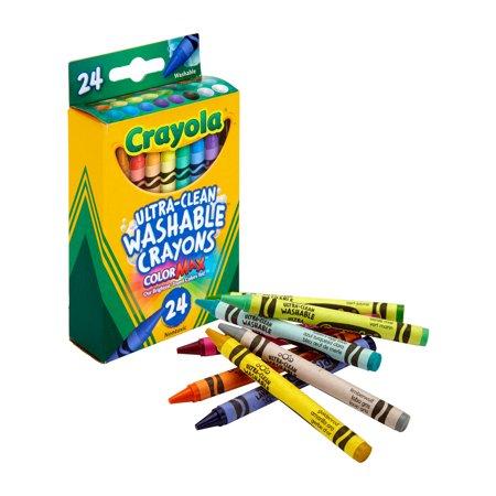 Crayola Washable Crayon Set, 24-Color Set