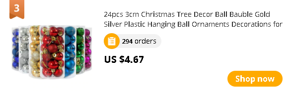 24pcs 3cm Christmas Tree Decor Ball Bauble Gold Silver Plastic Hanging Ball Ornaments Decorations for Home New Year Navidad