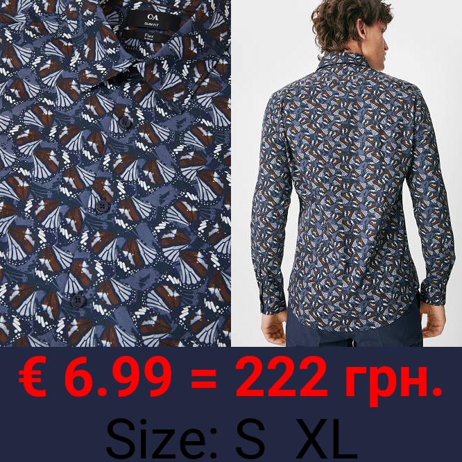 Businesshemd - Slim Fit - Kent - Flex - Bio-Baumwolle