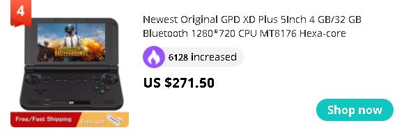 Newest Original GPD XD Plus 5Inch 4 GB/32 GB Bluetooth 1280*720 CPU MT8176 Hexa-core Handheld Gaming Console Laptop Black Onsale