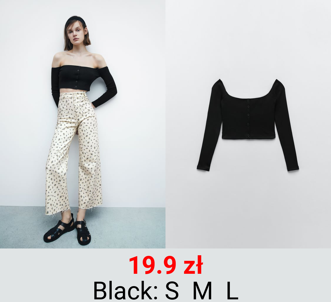 CROPPED TOP WITH BUTTONS