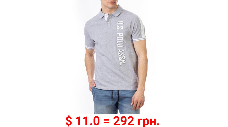 U.S. Polo Assn. Men's Embossed Logo Pique Polo Shirt