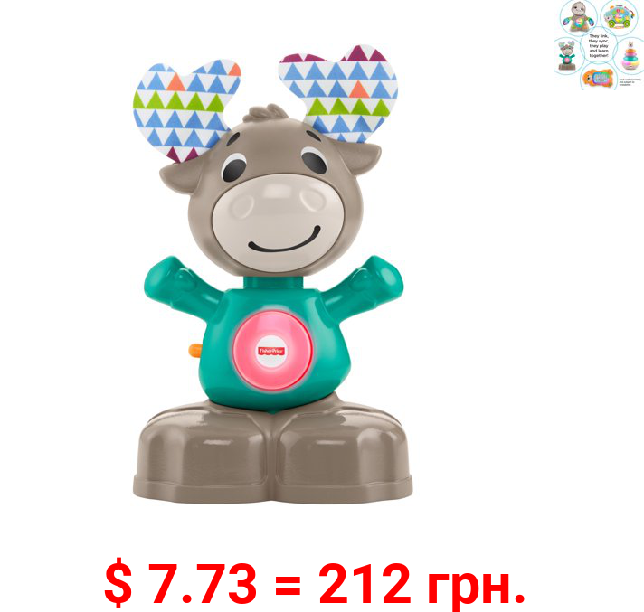 Fisher-Price Linkimals Musical Moose, with Interactive Lights & Sounds