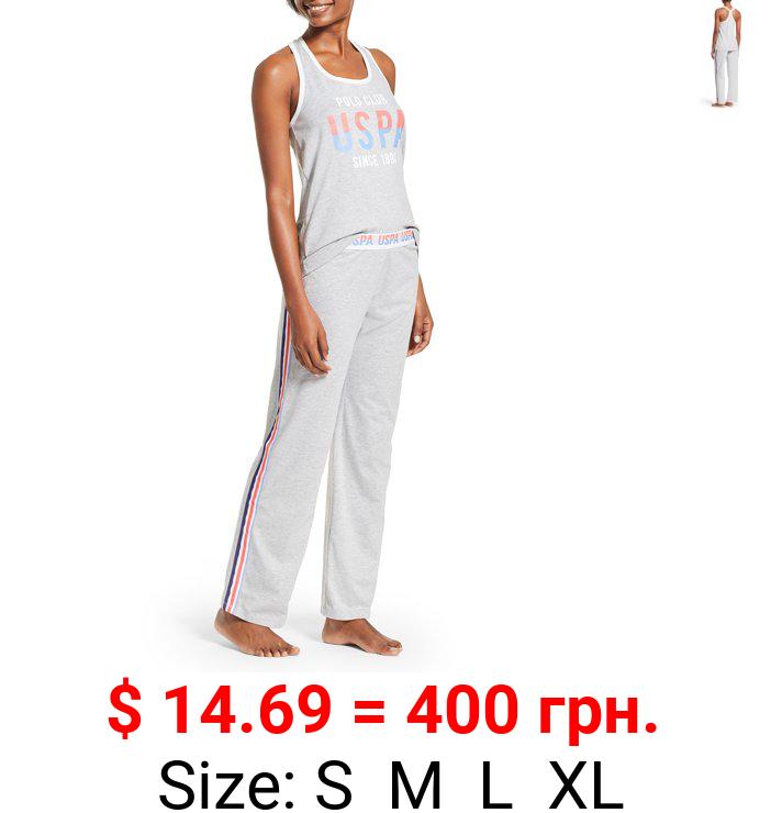 U.S. Polo Assn. Women's 2pc Racerback Tank and Pant Lounge Pajama Sleep Set
