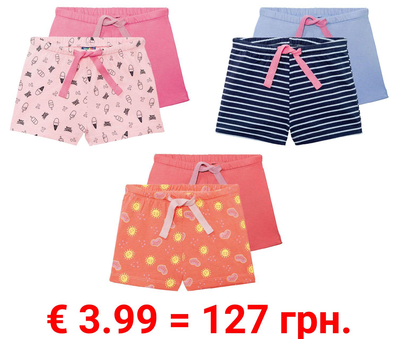 LUPILU® 2 Kleinkinder Mädchen Shorts