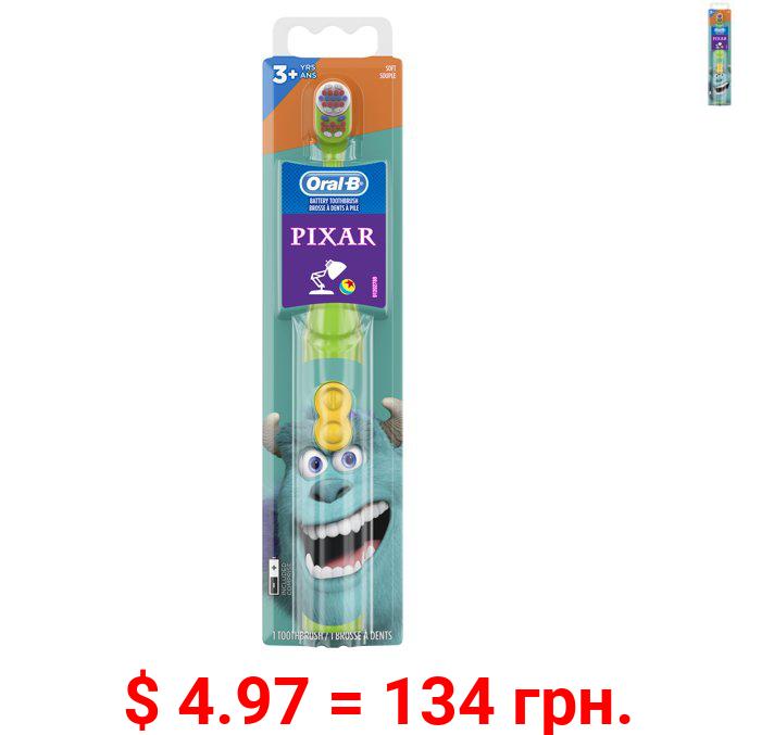 Oral-B Kid's Battery Toothbrush featuring PIXAR favorites, Soft Bristles, for Kids 3+