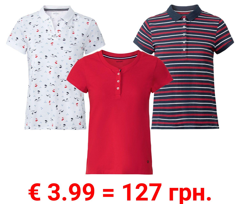 ESMARA® Poloshirt Damen, leicht tailliert geschnitten