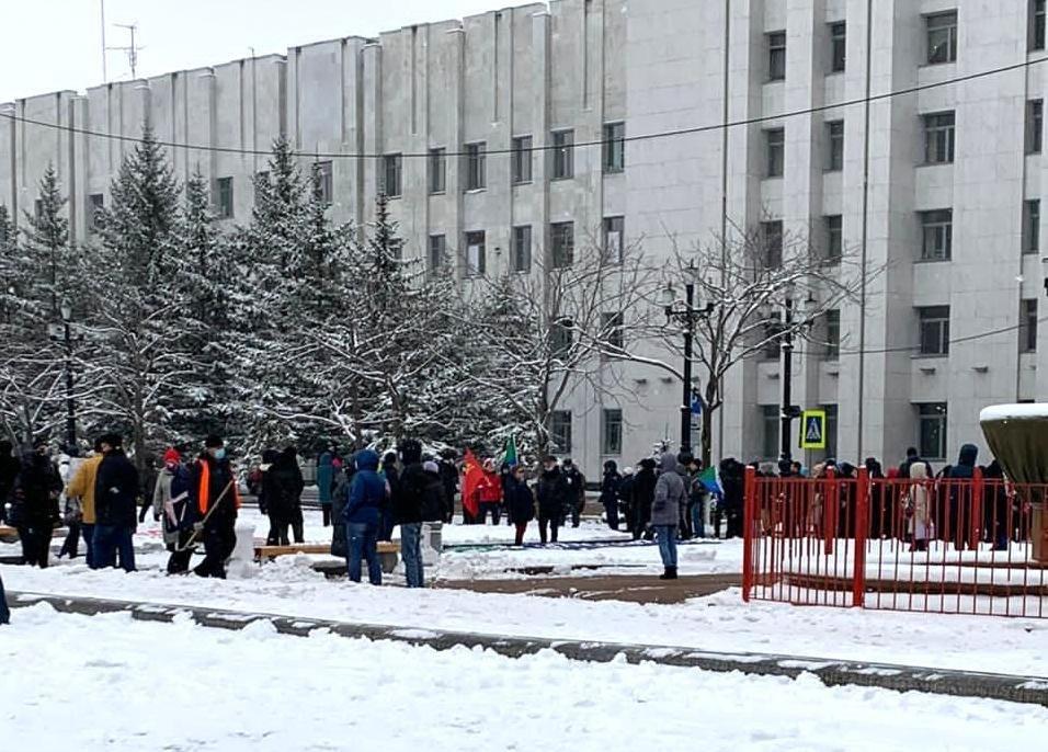 Администрация насчитала менее 250 человек на митинге в Хабаровске