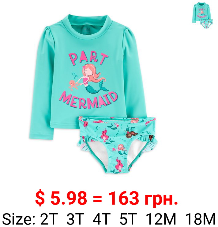 Child of Mine by Carter's Baby & Toddler Girl Rashguard Swim Set, 2pc (6/9M-5T)