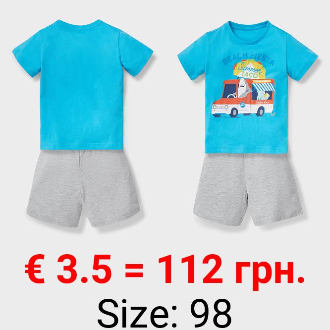 Shorty-Pyjama - Bio-Baumwolle - 2 teilig