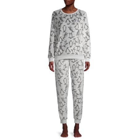 George Women's and Women's Plus 2-Piece Plush Pajama Set