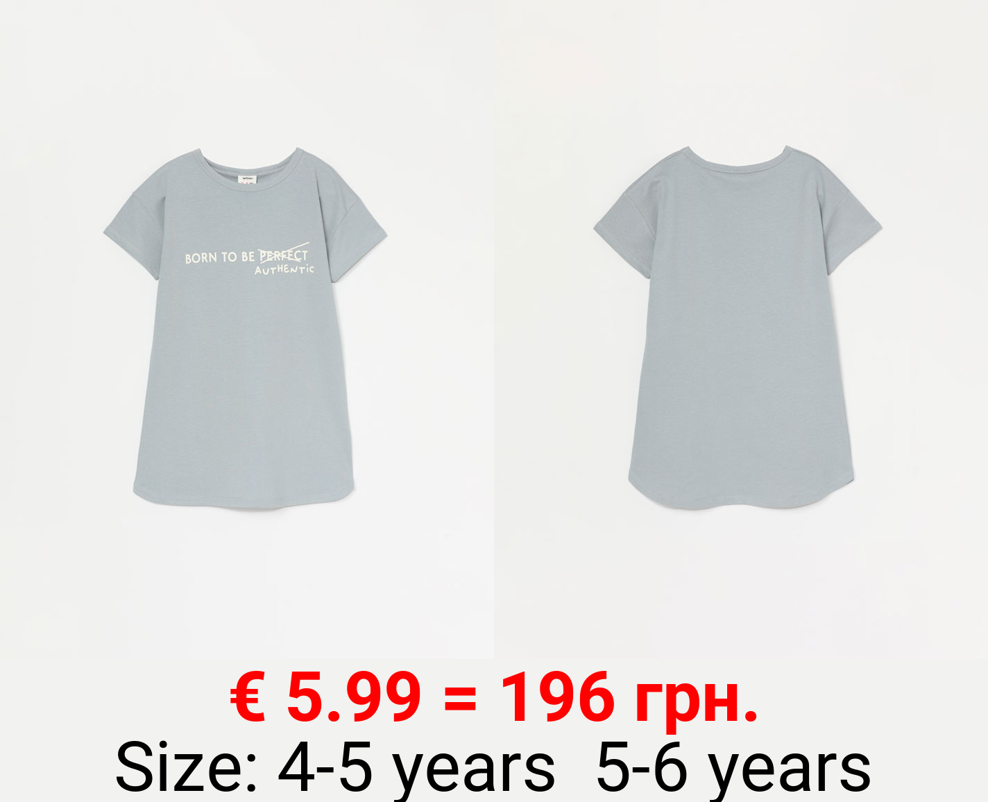 Plush printed dress