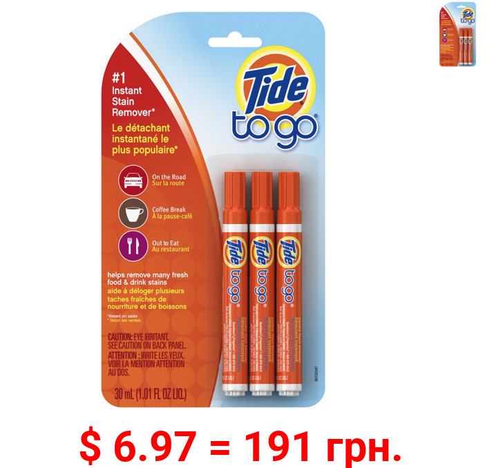 Tide-To-Go Instant Stain Removing Pen, 3 Count Pack