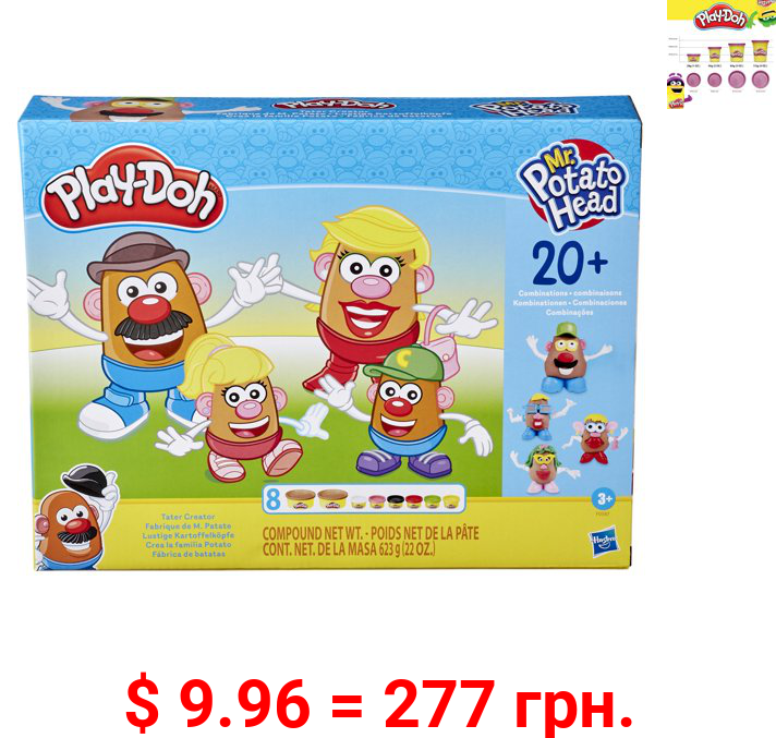 Play-Doh Mr. Potato Head Tater Creator Set, 8 Cans with 22 Ounces Total