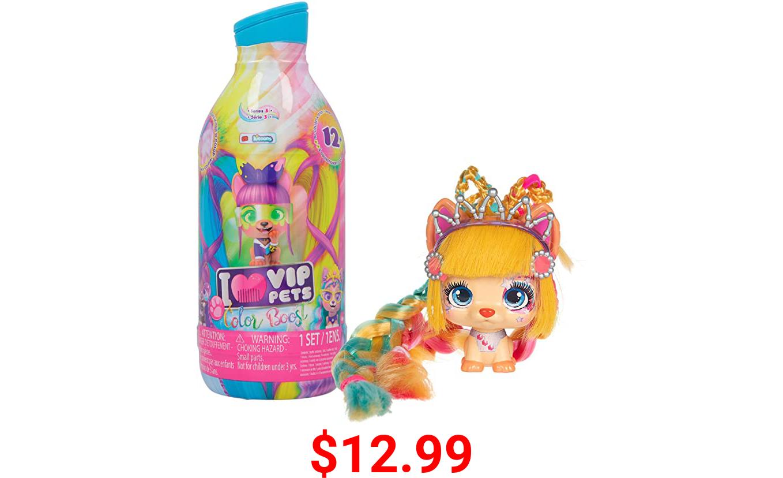 IMC Toys VIP Pets Color Boost - Includes 1 VIP Pets Doll, 9 Surprises, 6 Accessories  Kids Age 3+ (712003)