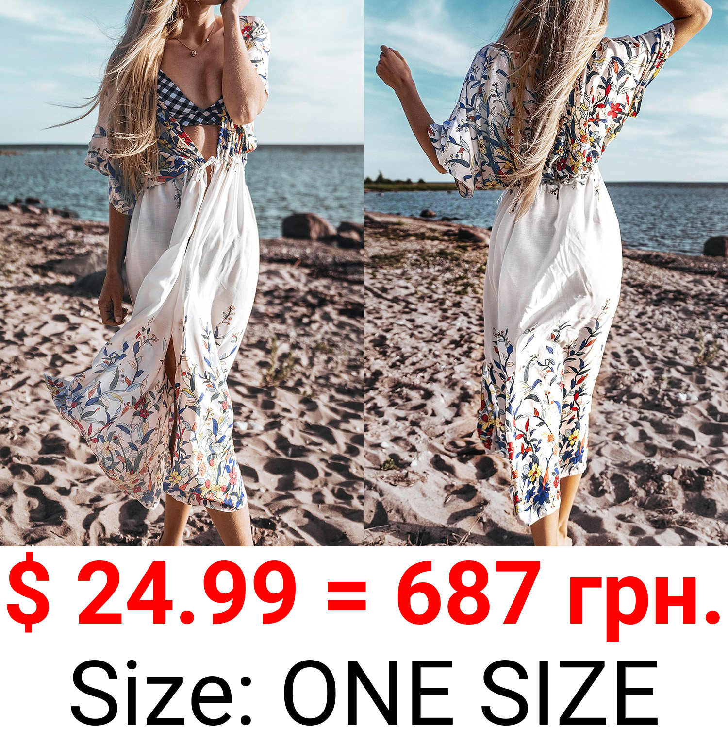 Wildflower Midi Cover Up