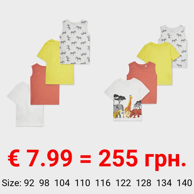 Multipack 4er - Kurzarmshirt und Top - Bio-Baumwolle