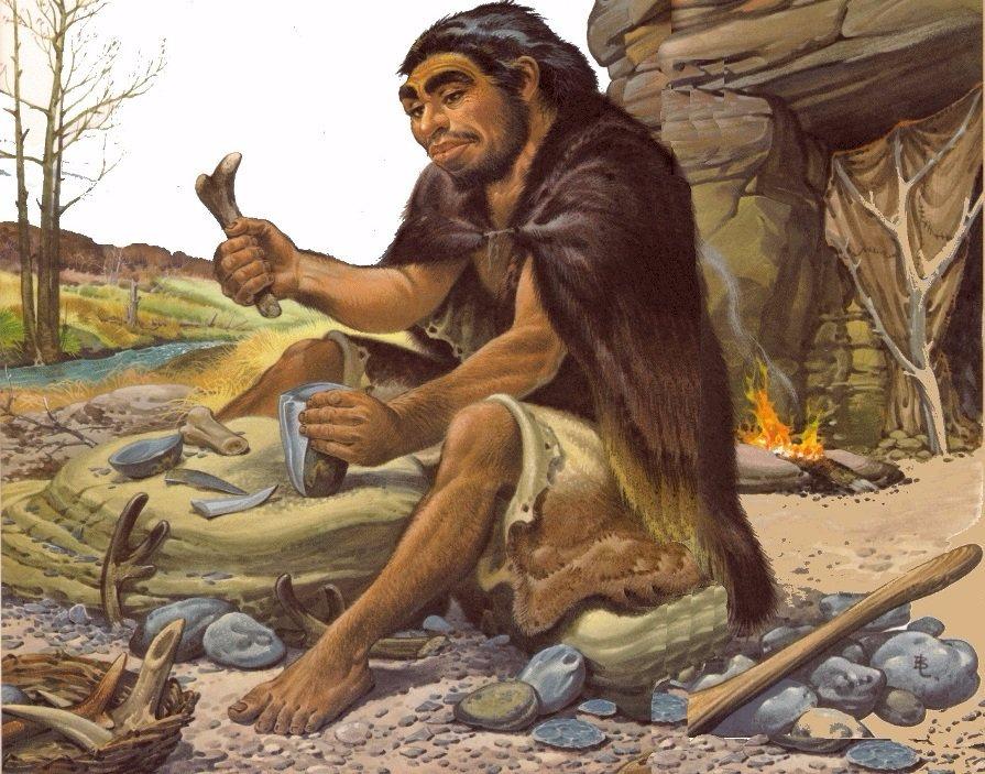 Жизнь пещерных людей в картинках