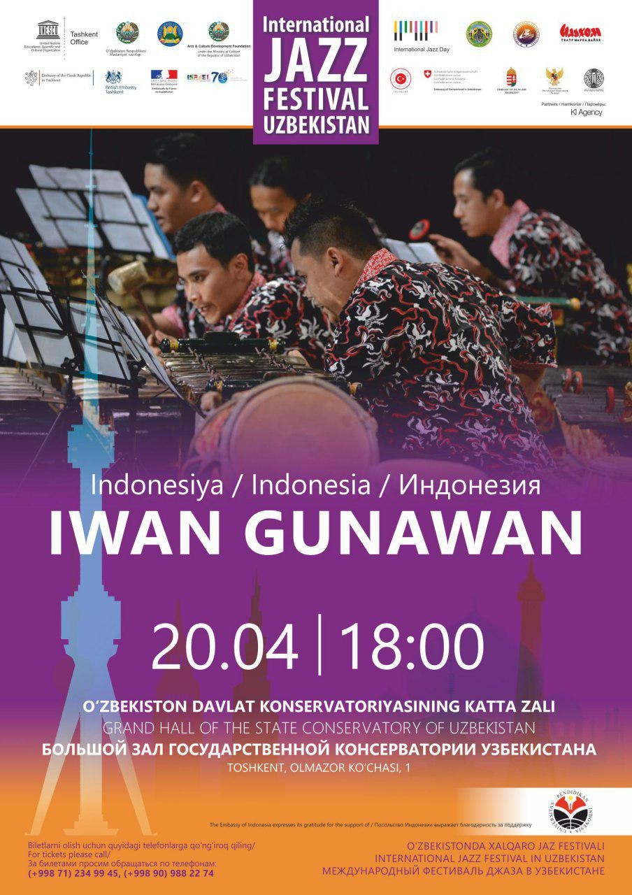 International Jazz Festival in Uzbekistan: Iwan Gunawan