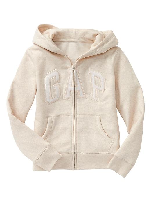 Kids Gap Logo Zip Hoodie In Fleece