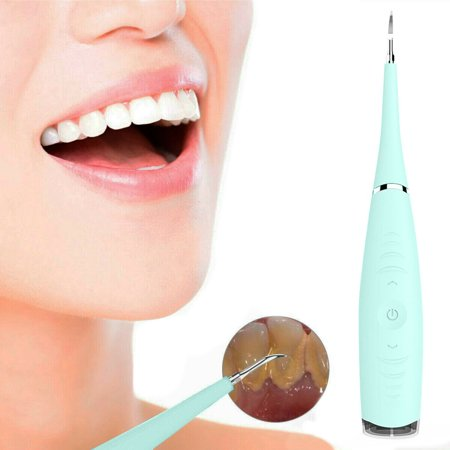 Portable Electric Sonic Dental Scaler Tooth Calculus Remove Tooth Wihtening Tool Green