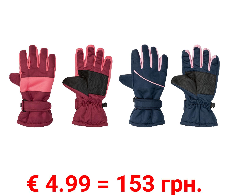 CRIVIT® Kinder Handschuhe Mädchen, warm gefüttert