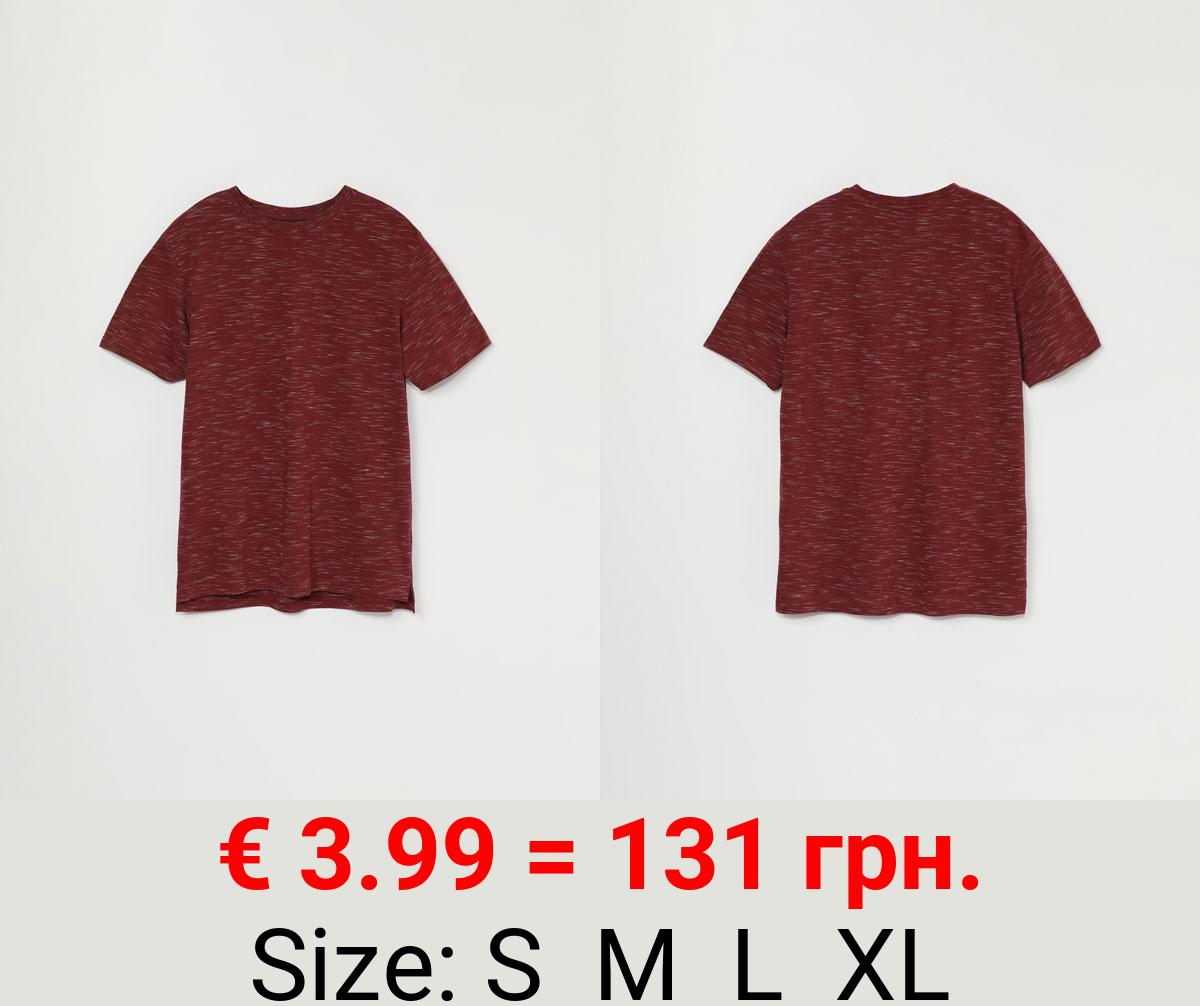 Short sleeve flecked T-shirt