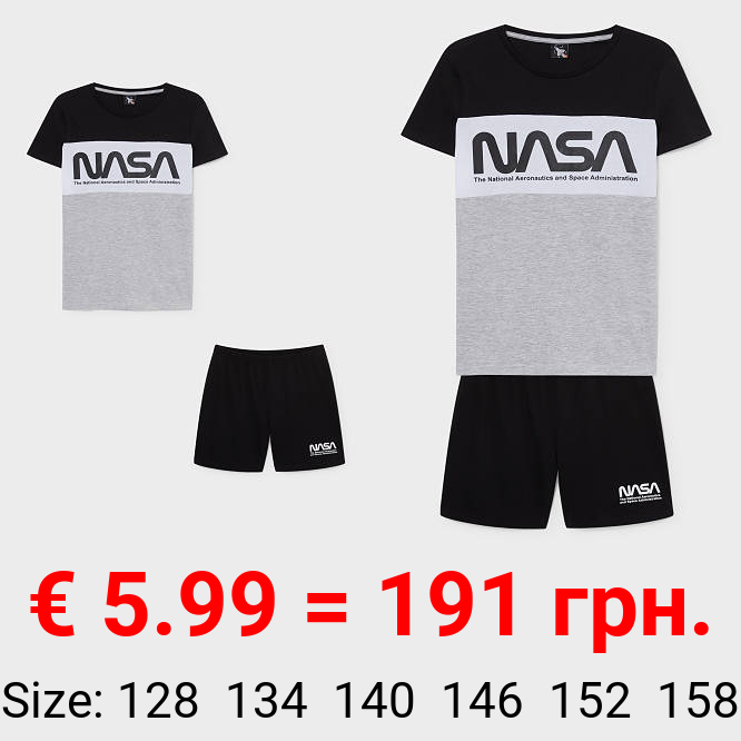 NASA - Shorty-Pyjama - Bio-Baumwolle - 2 teilig