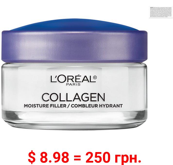 L'Oreal Paris Moisture Filler Facial Day Night Cream, Lightweight Collagen, 1.7 oz.
