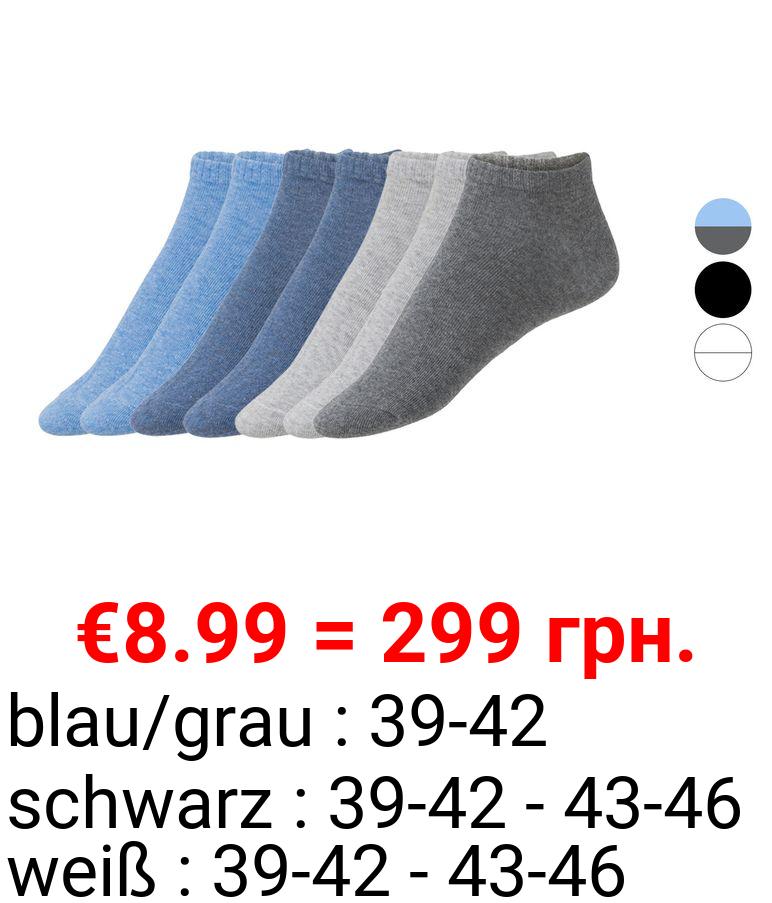 LIVERGY® Sneakersocken Herren, 7 Paar