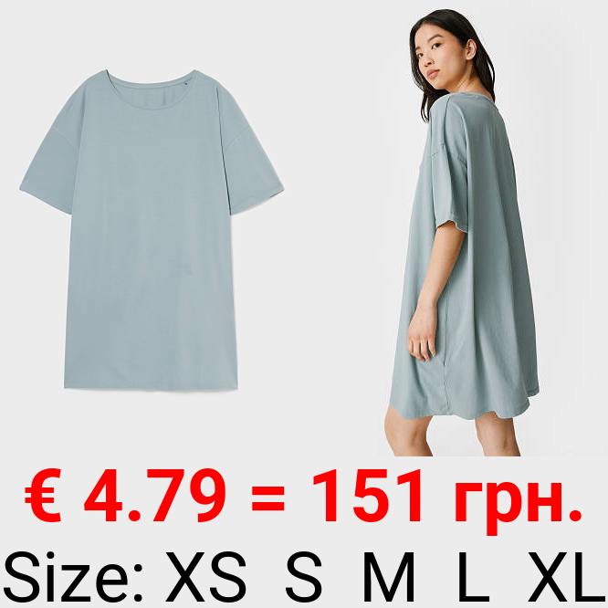 Basic-T-Shirt-Kleid - Bio-Baumwolle