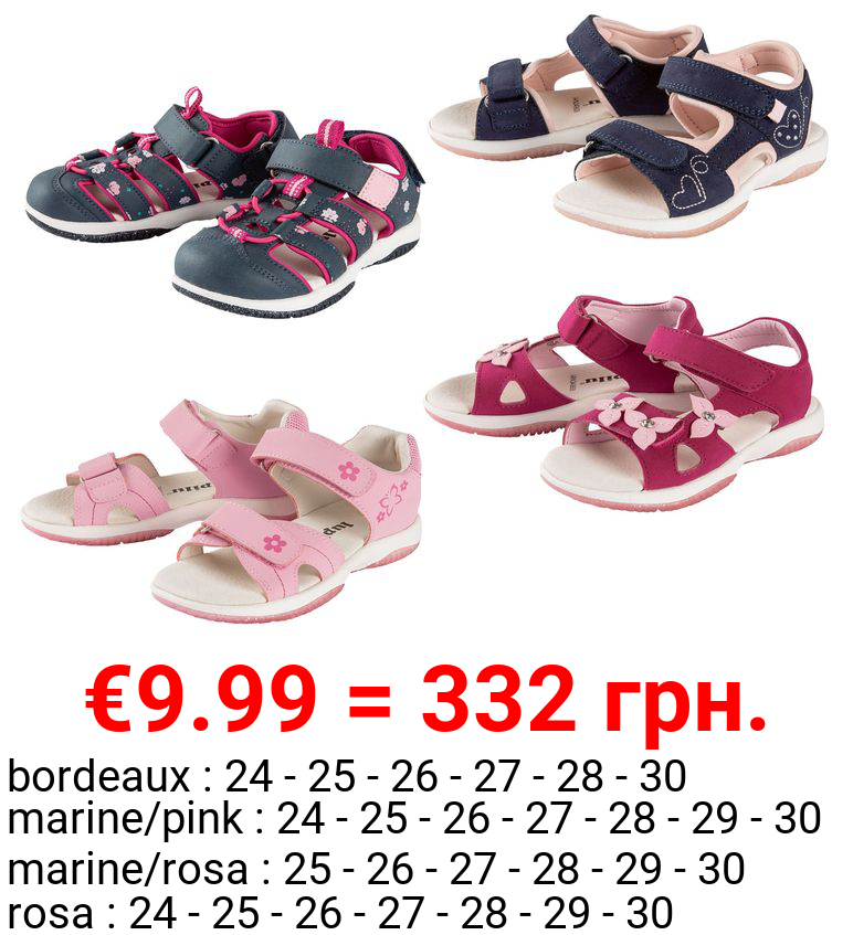 LUPILU® Kleinkinder Sandalen Mädchen, mit Lederdecksohle