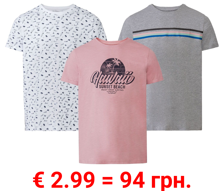 LIVERGY® T-Shirt Herren, mit Rundhalsausschnitt