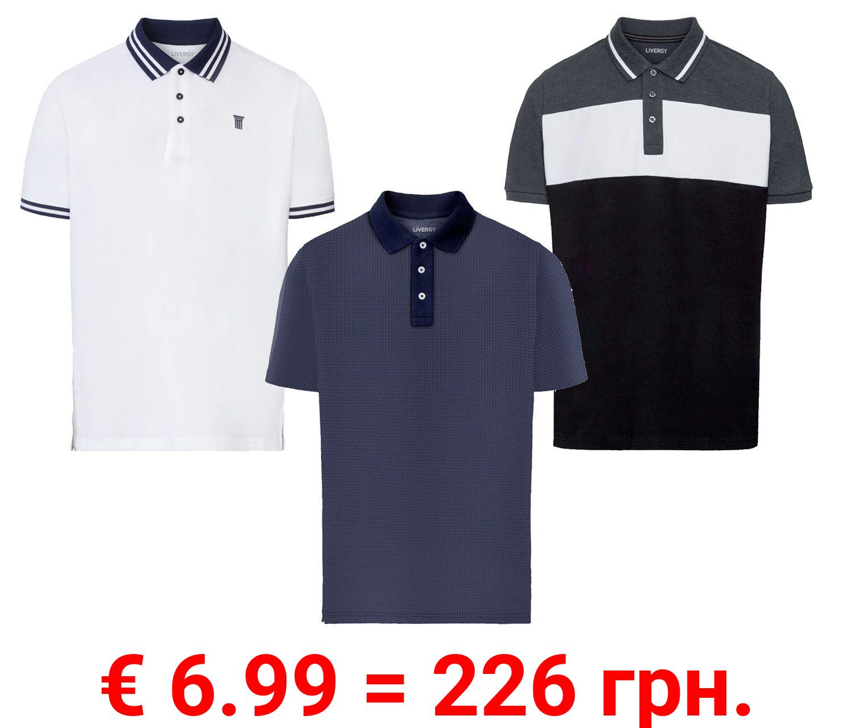 LIVERGY® Poloshirt Herren, in Pikee-Qualität