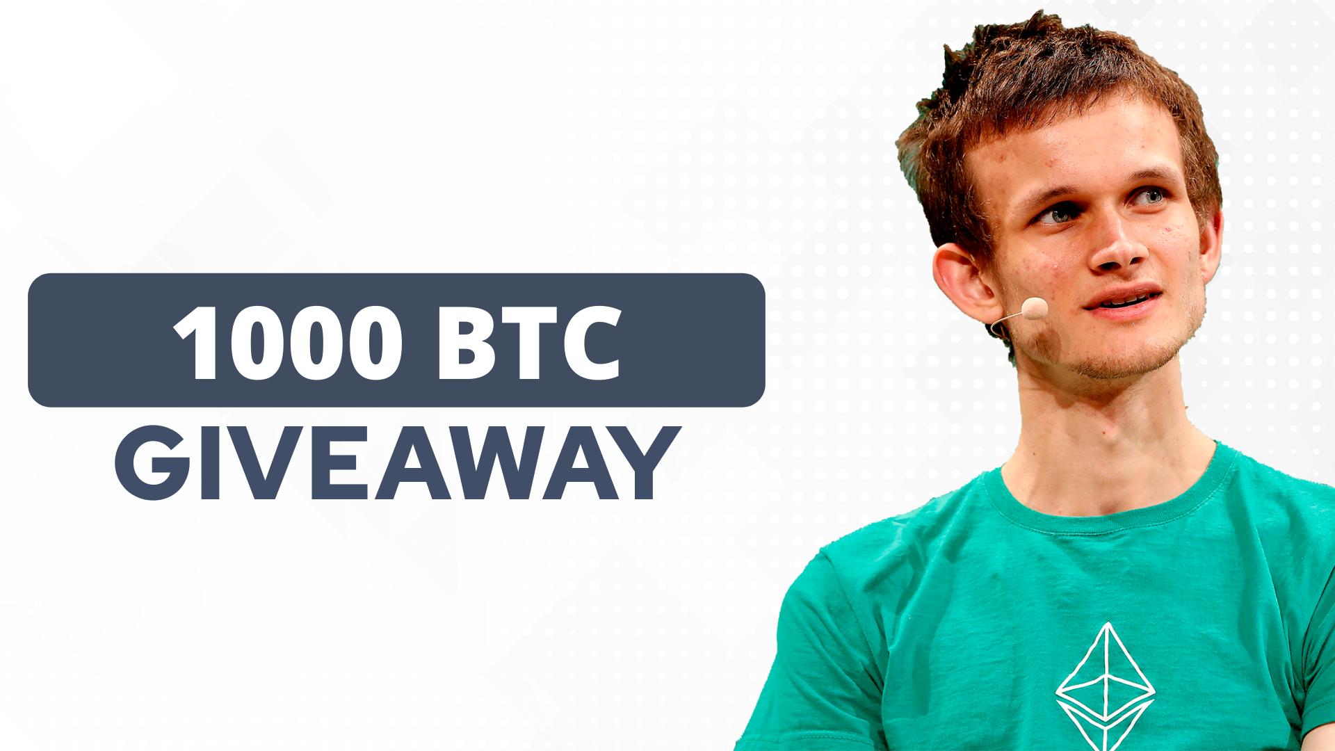 1000 btc giveaway come essere un commerciante di giorno bitcoin