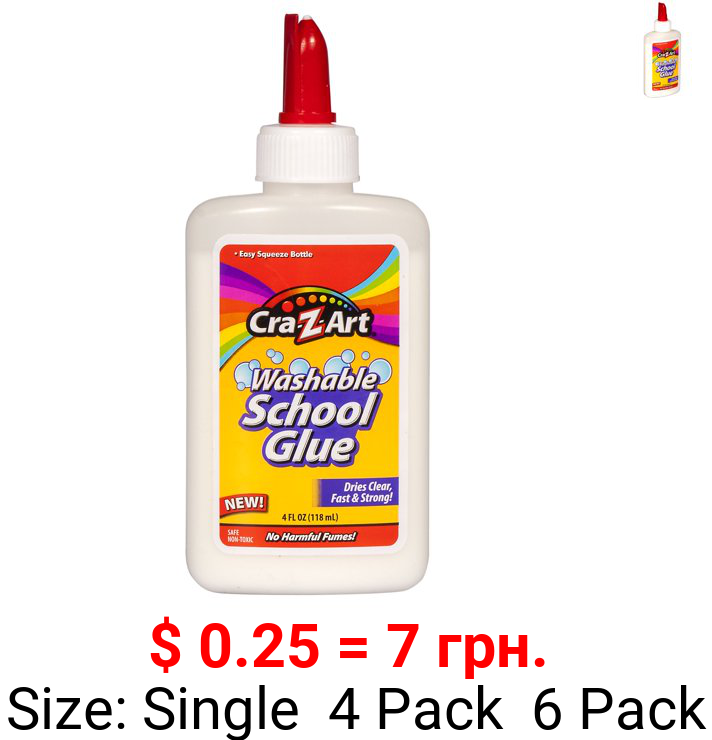 Cra-Z-Art Washable School Glue , 4oz White