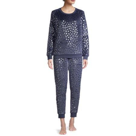 George Women's and Women's Plus Plush Pajamas, 2-Piece Set