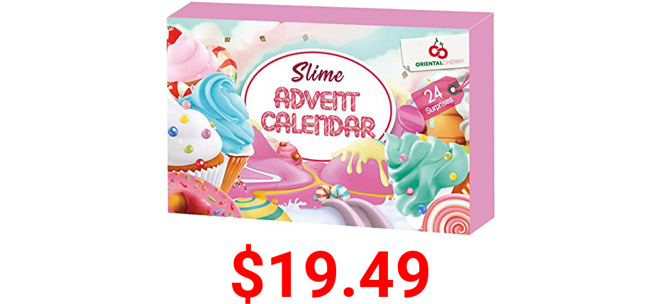 Advent Calendar 2021 - Christmas Countdown Advent Calendars - 24 Days of Surprises with DIY Fluffy Slime Kit - Funny Gifts Toy for Toddler Kids Teens Girls 4 5 6 7 8 9 10 11 12 Year Old