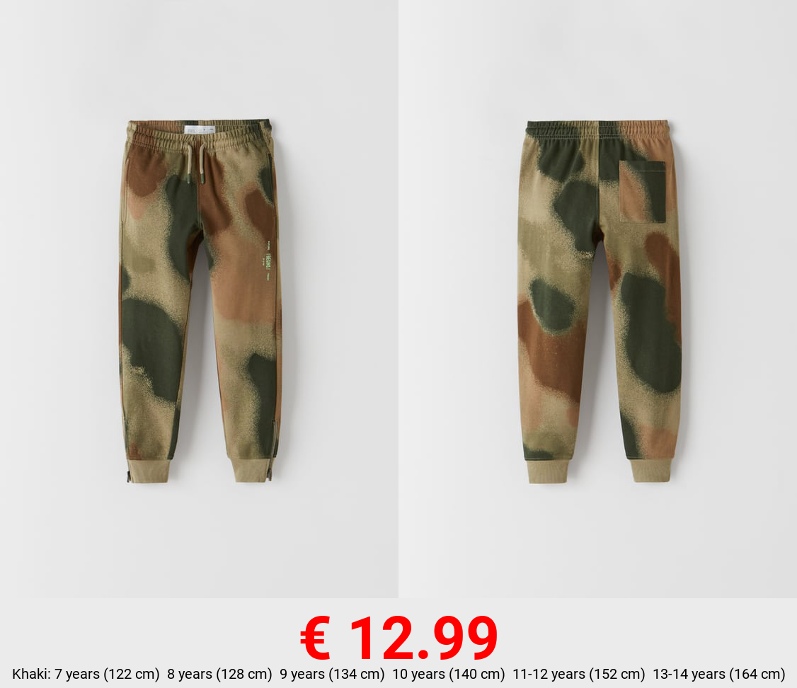 PLUSH JERSEY TROUSERS WITH ZIPS