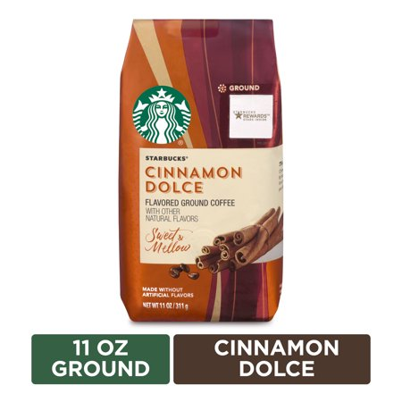 Starbucks Flavored Ground Coffee — Cinnamon Dolce — No Artificial Flavors — 1 bag (11 oz.)