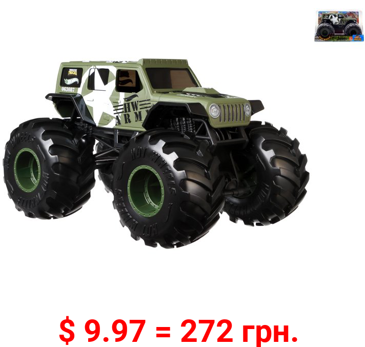 Hot Wheels Monster Trucks 1:24 Scale Jeep Vehicle
