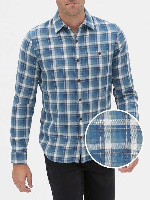 Long Sleeve Slub Shirt in Slim Fit