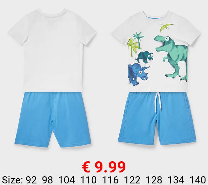 Set - Kurzarmshirt und Shorts - Bio-Baumwolle