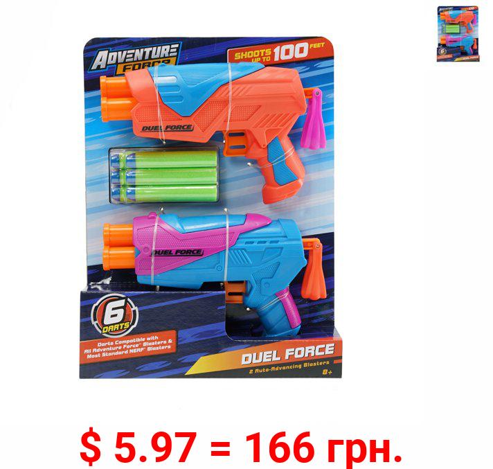 Adventure Force Duel Force Dart Blasters, Pack of 2