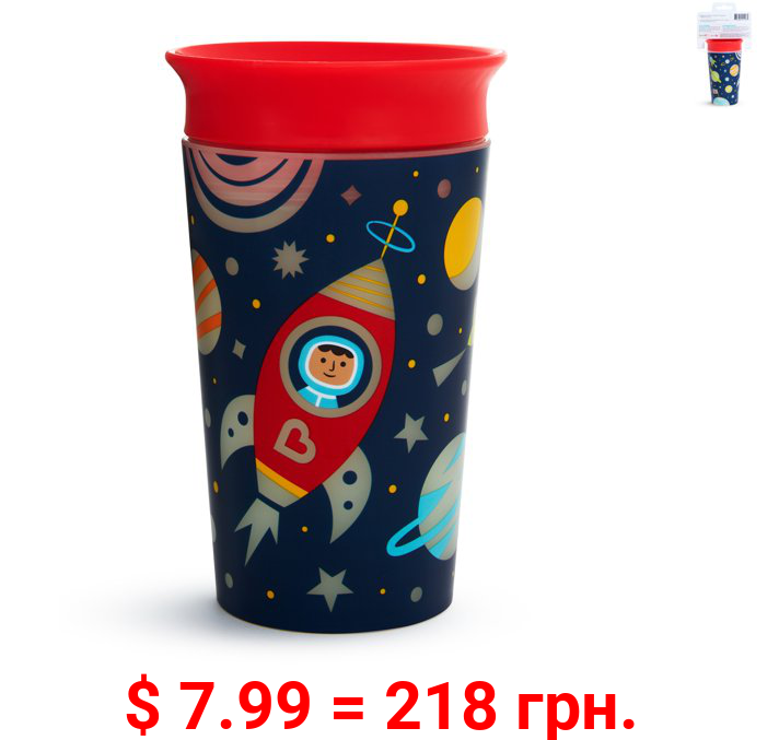 Munchkin Miracle 360° Glow in the Dark Sippy Cup, 9 Ounce, Astronaut