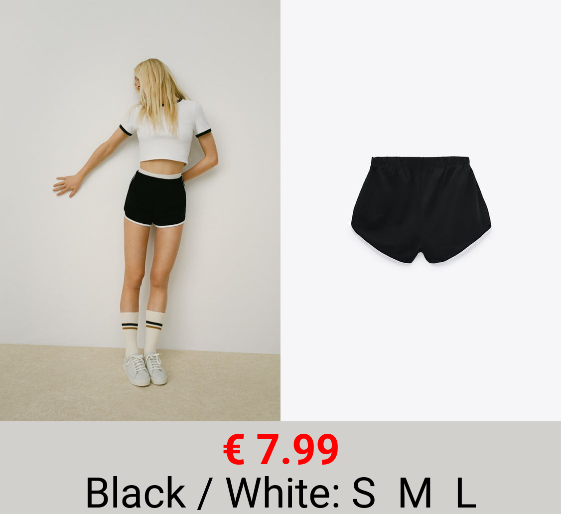 SHORTS WITH CONTRAST TRIMS