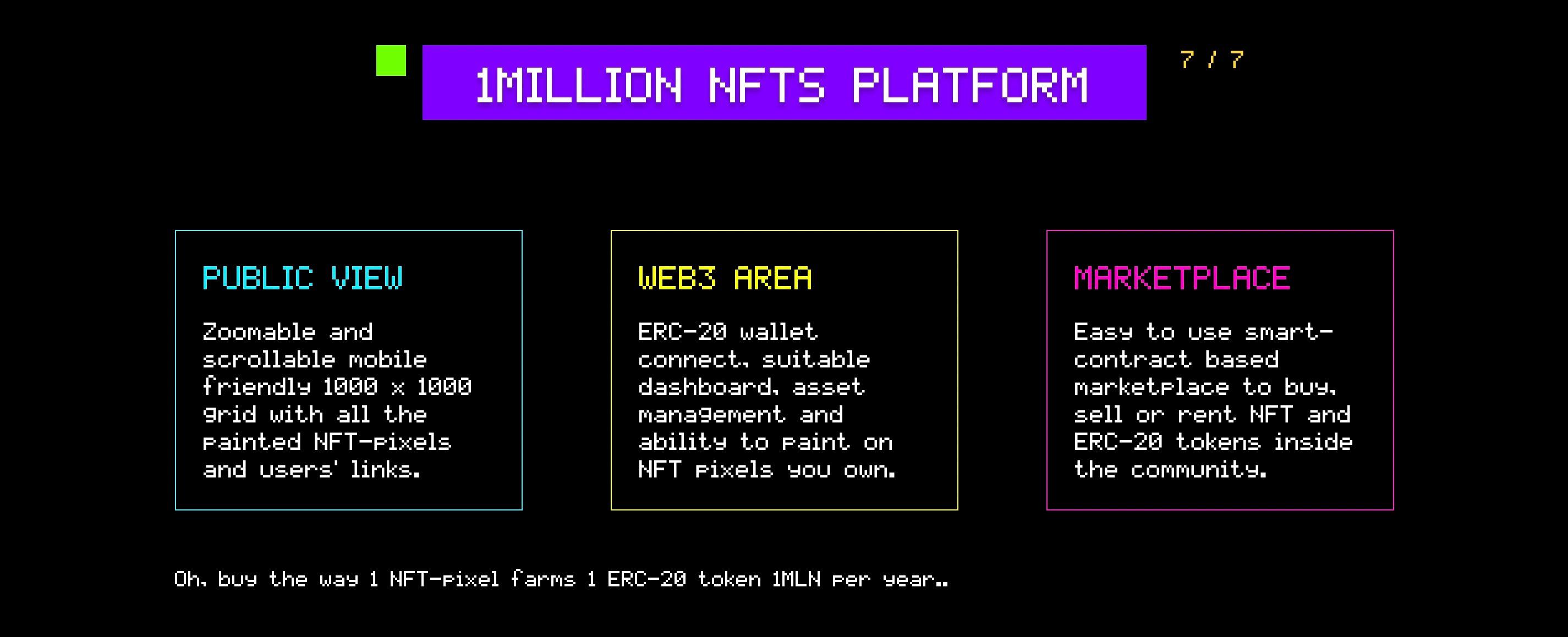 1 million nft platform