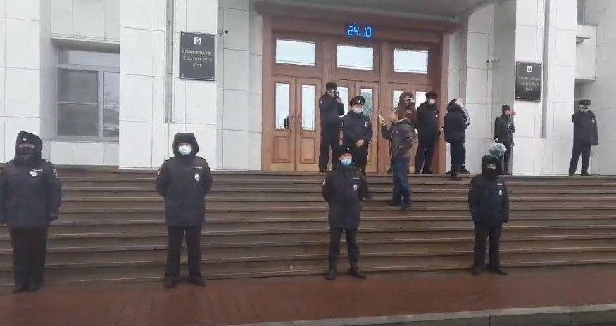 Администрация насчитала 300 человек на митинге в Хабаровске